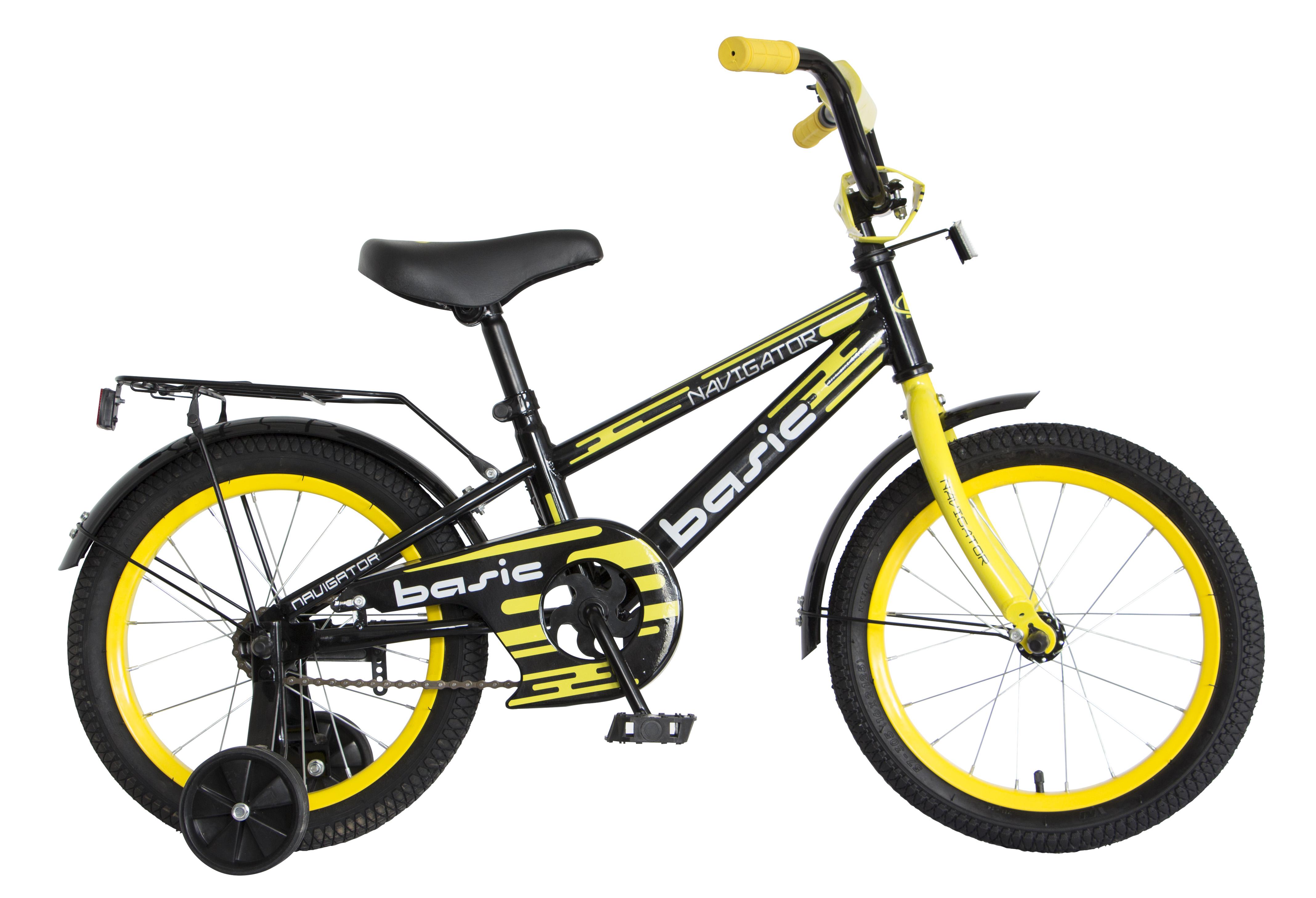 Велосипед двухколесный Navigator Basic 16 черный с желтым