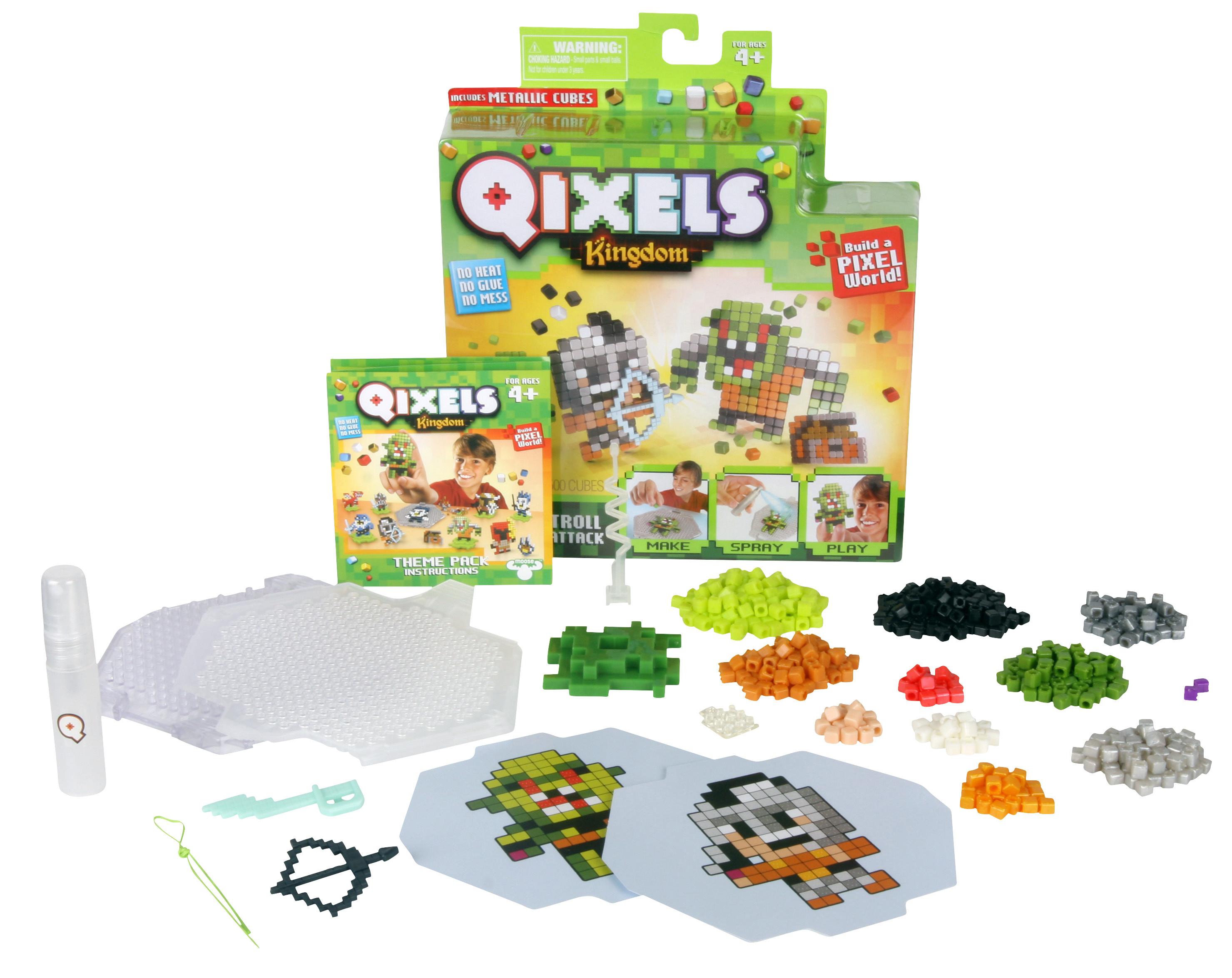 Купить Мозаика, Атака троллей, 1шт., Qixels 87110, Китай, многоцветный