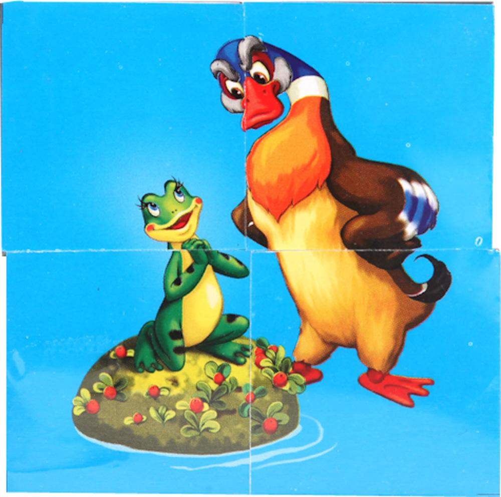 Кубики для детей Играем вместе Русские сказки 4 шт. кубики русские деревянные игрушки транспорт 6 шт д488а