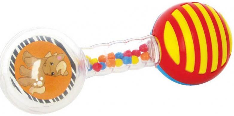 Погремушка Мир детства Мир Детства «Веселая гантелька» игрушка погремушка мир детства фокусник зайка