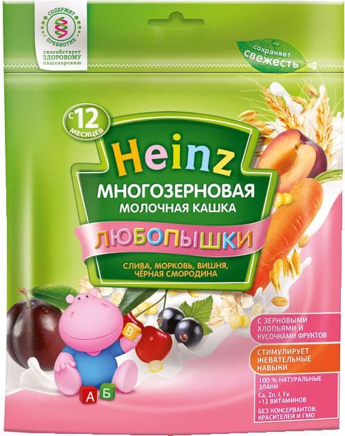 Каша Heinz Heinz Любопышки молочная многозерновая слива, морковь, вишня, черная смородина (с 12 месяцев) 200 г heinz многозерновая с липой и ромашкой 200 г