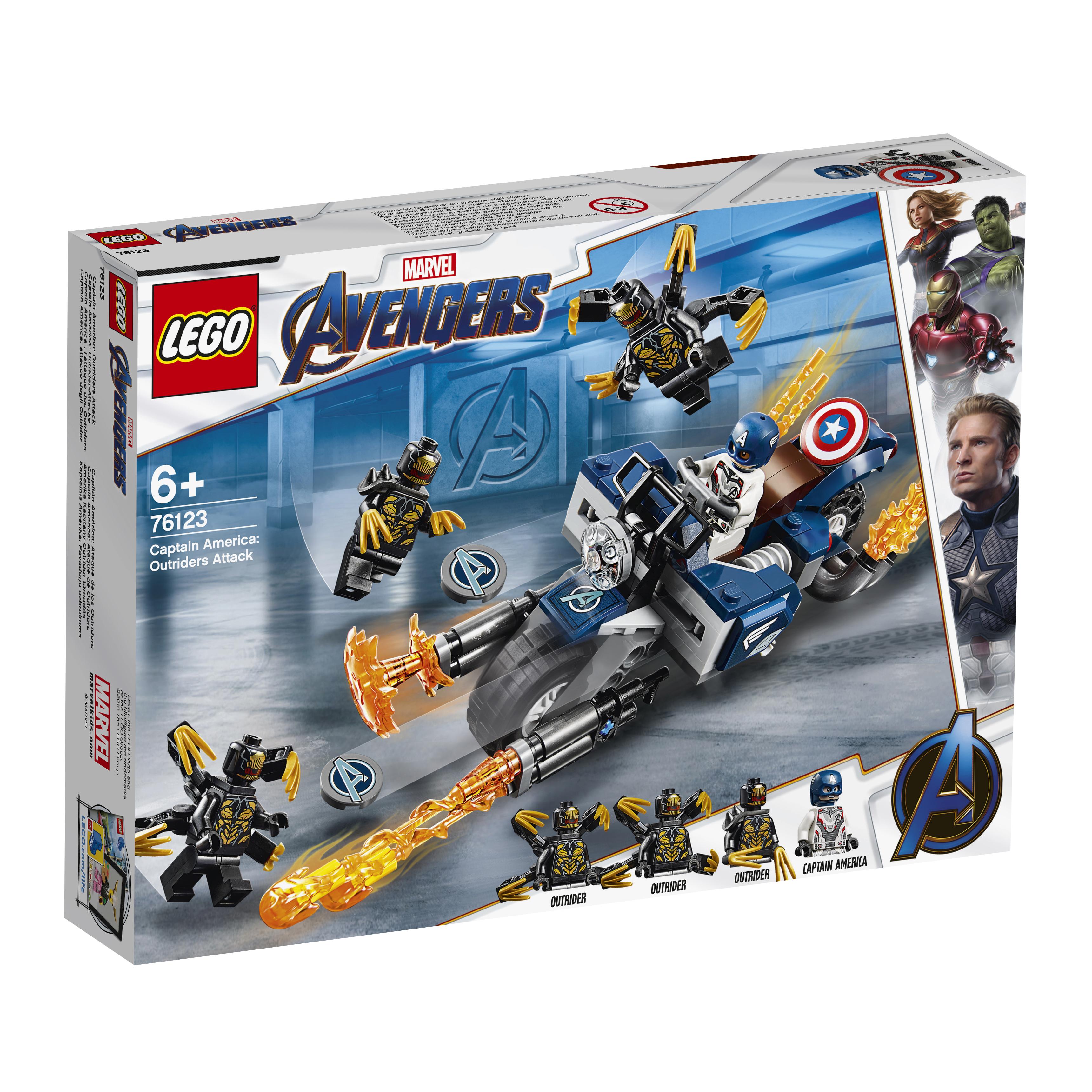 Конструктор LEGO Super Heroes 76123 Капитан Америка: Атака Аутрайдеров lego конструктор супергерои воздушная погоня капитана америки