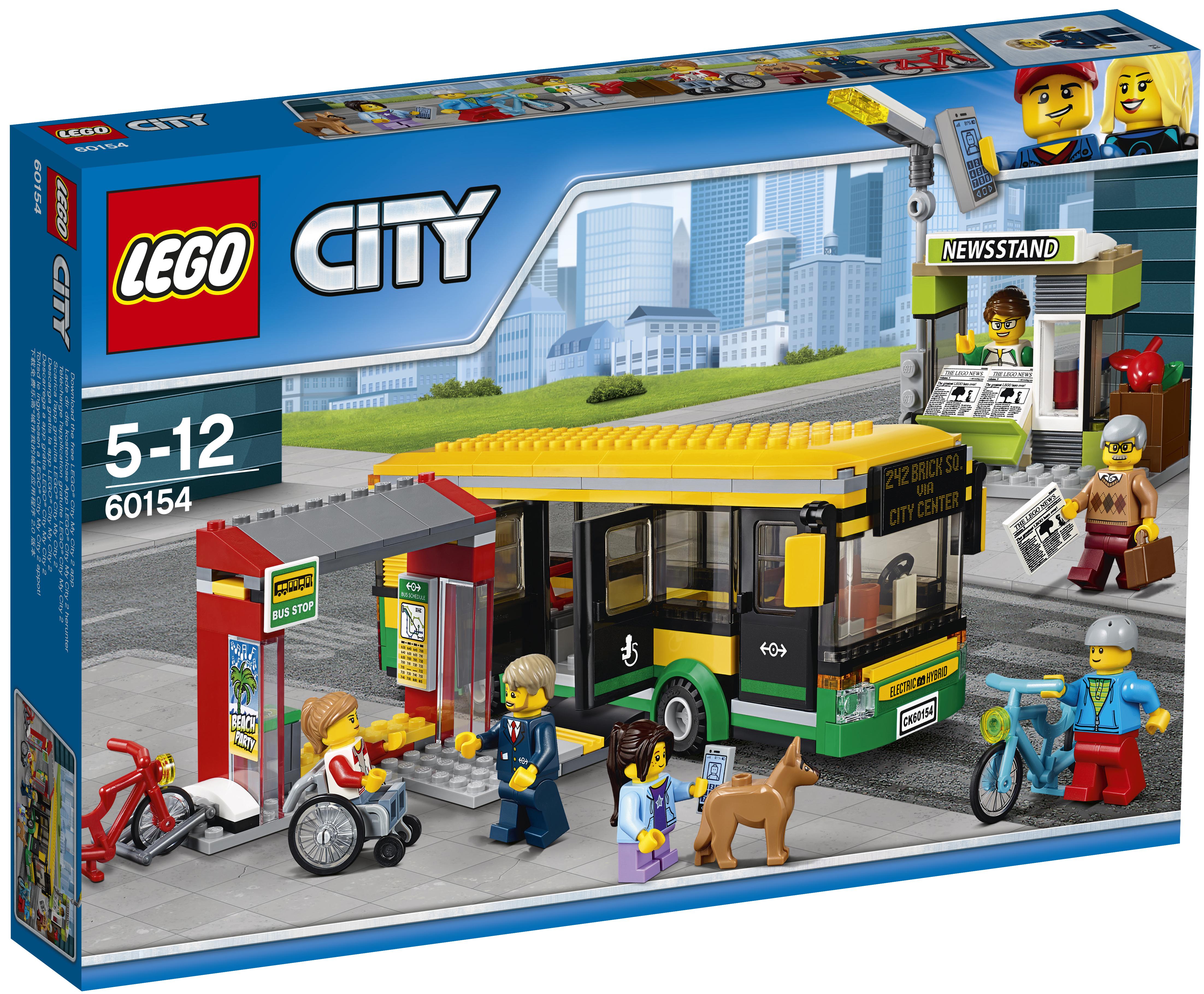 LEGO LEGO City Town 60154 Автобусная остановка велосипед pegasus city cargo wave 2016