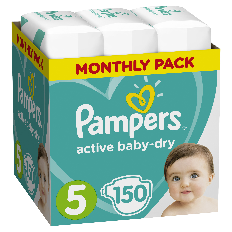 Подгузники Pampers Подгузники Pampers Active Baby-Dry 5 (11-18 кг) 150 шт. подгузники pampers подгузники active baby dry junior р 5 11 18 кг 78 шт