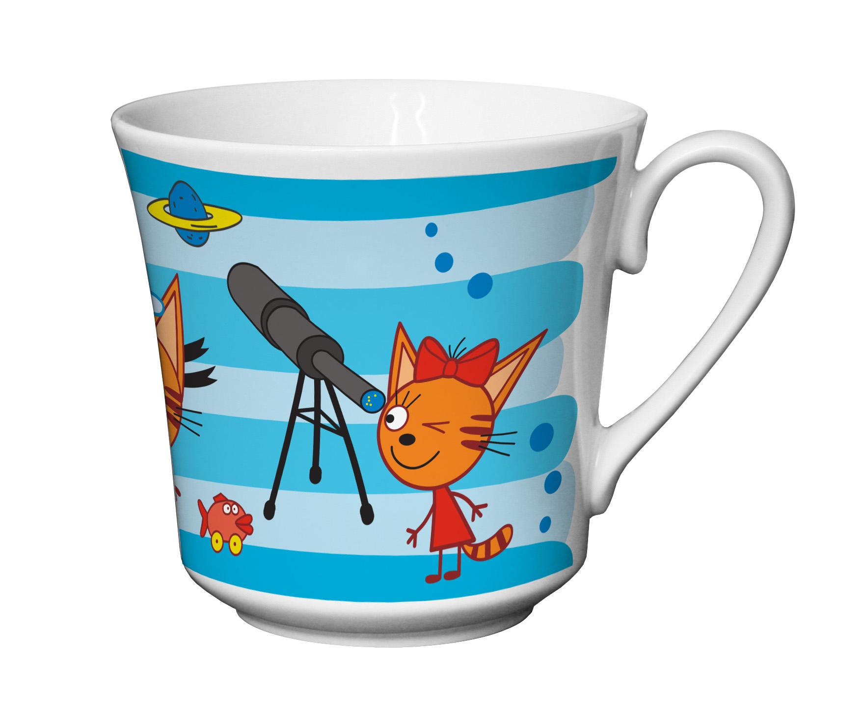 Набор посуды Приор Групп Три кота. Синий