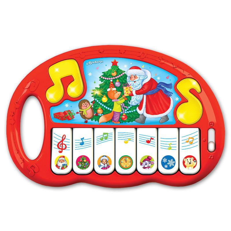 Музыкальные игрушки Азбукварик Музыкальная игрушка Азбукварик «Пианино. Новый Год» планшет азбукварик планшетик музыкальная ферма 30014080741