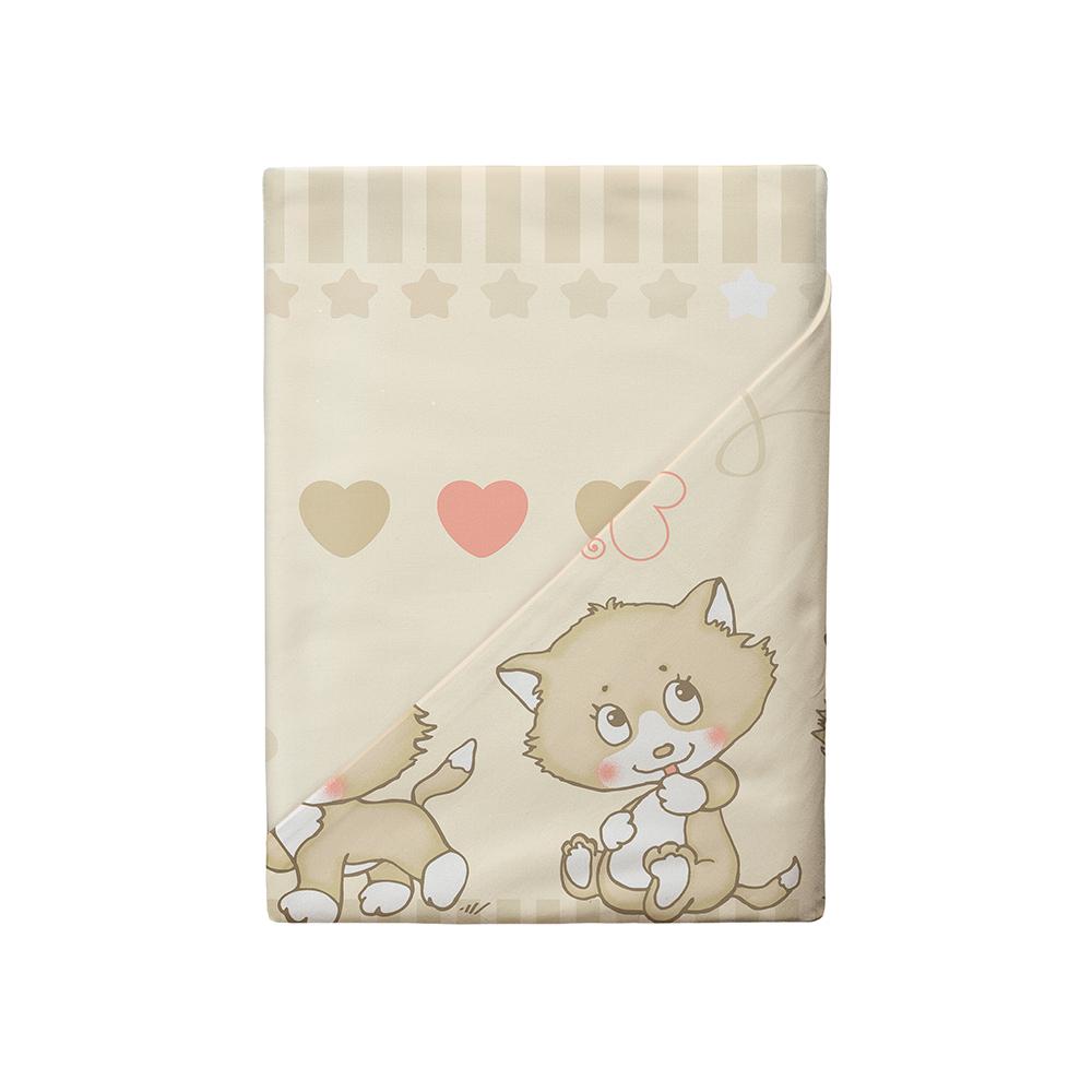 Постельные принадлежности Облачко Облачко «Котята» простынь на резинке детский комплект постельного белья облачко влюбленный медвежонок