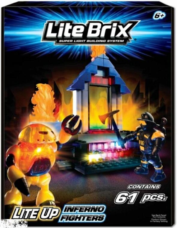 Конструкторы для малышей Lite Brix Lite Brix 35850 Воины Инферно lite brix самолет 35814