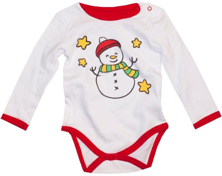 Первые вещи новорожденного Barkito Боди с длинным рукавом Новый год Barkito Белый боди playtoday боди