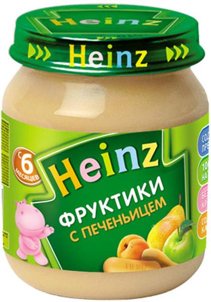 Пюре Heinz Пюре Heinz Фрукты с печеньем с пребиотиками 6 мес. 120 г пюре heinz фруктовое 120 гр грушка и черничка с печеньем с 6 мес