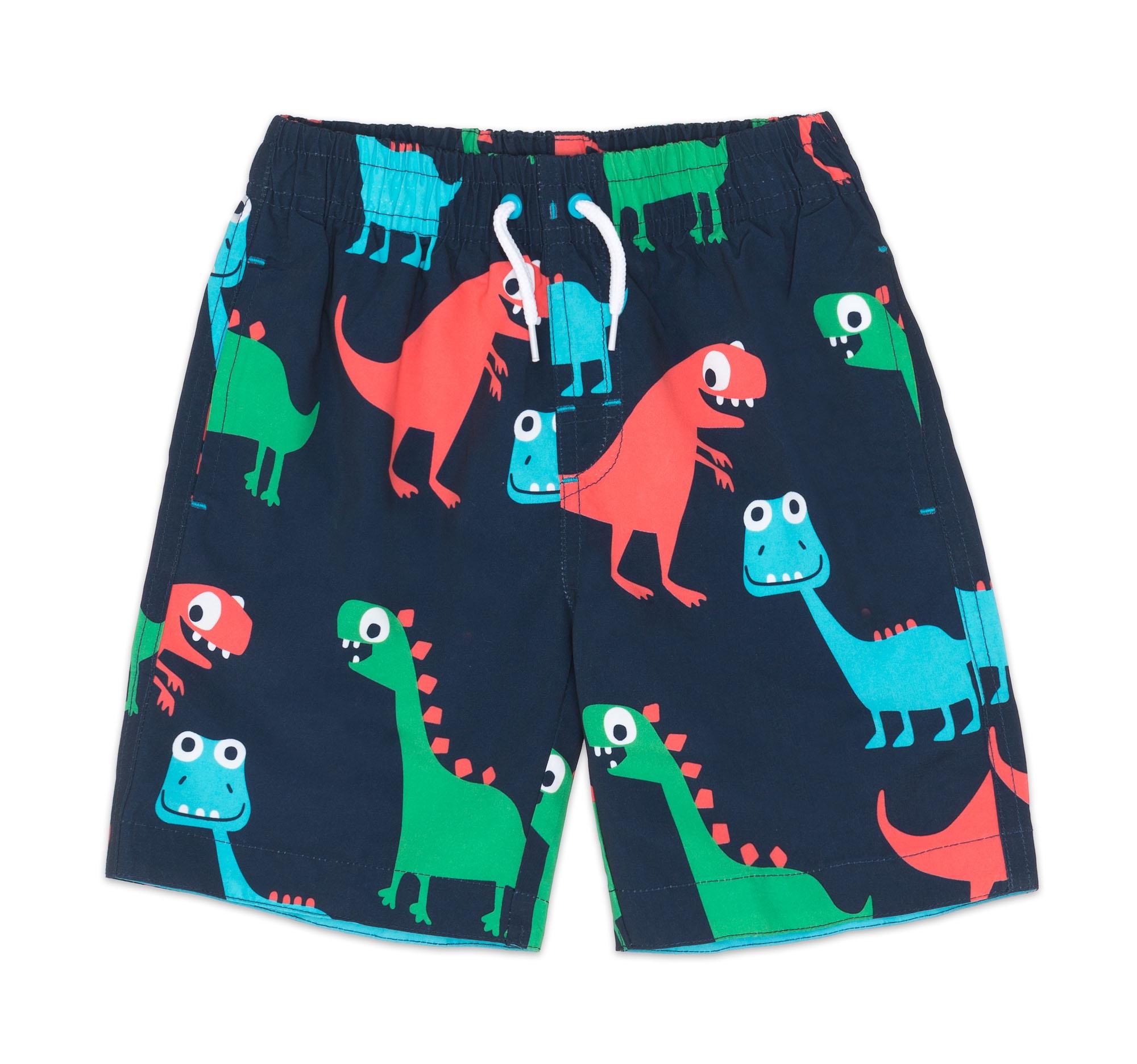 Шорты Barkito Шорты купальные для мальчика Barkito, Пляж, синий, с рисунком динозавры шорты barkito шорты джинсовые для мальчика barkito супергерой голубые
