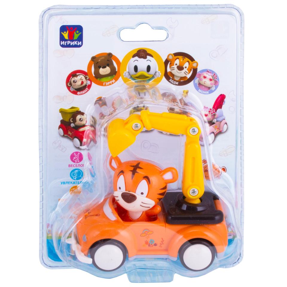 Машинка YAKO инерционная с фигуркой животного игрушка yako m6226