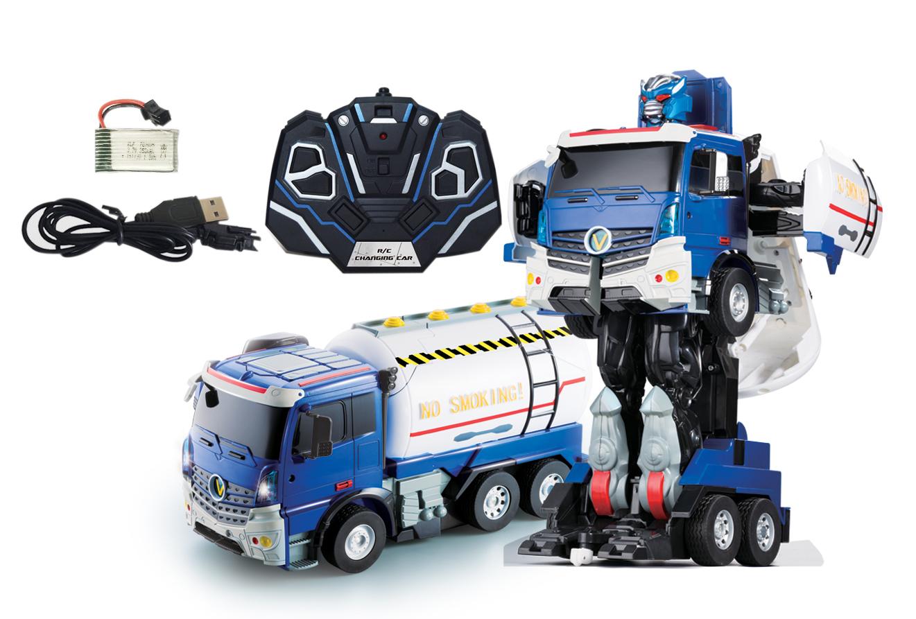 Робот-трансформер р/у 1toy Бензовоз робот трансформер р у 1toy 29 см серебристый