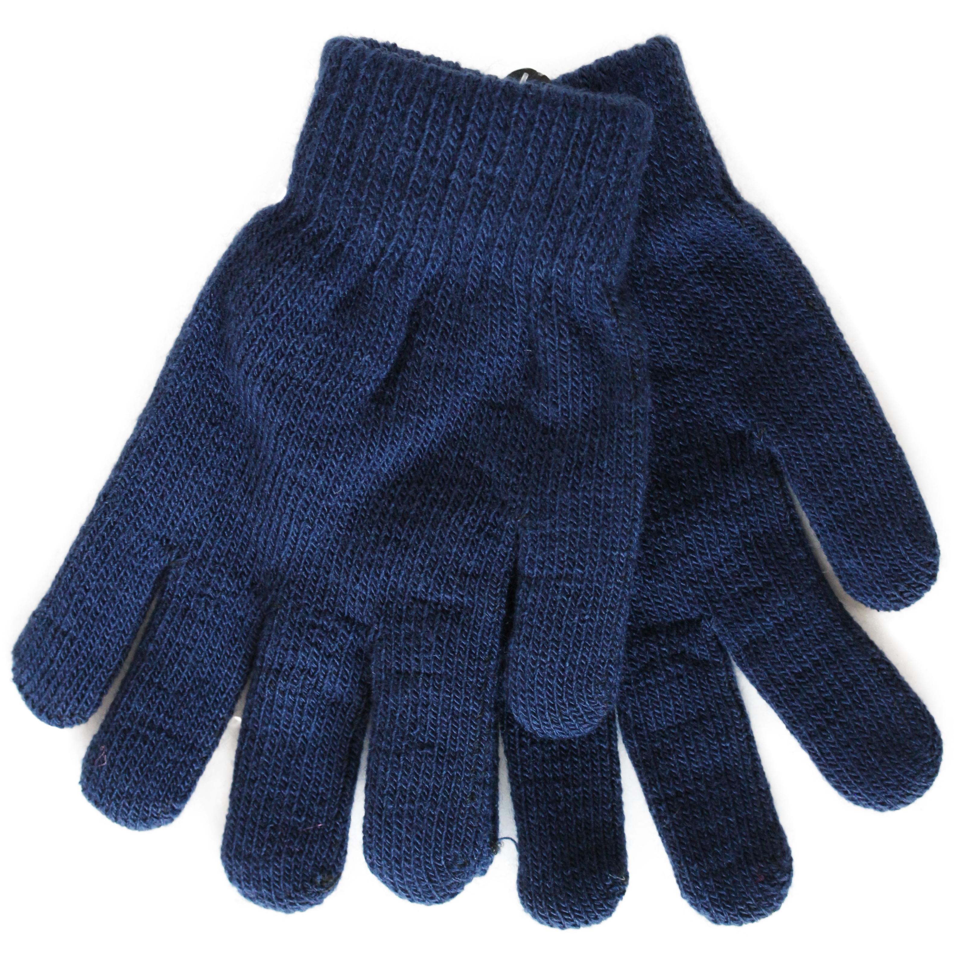 лучшая цена Перчатки детские Принчипесса Однослойные, темно- синие