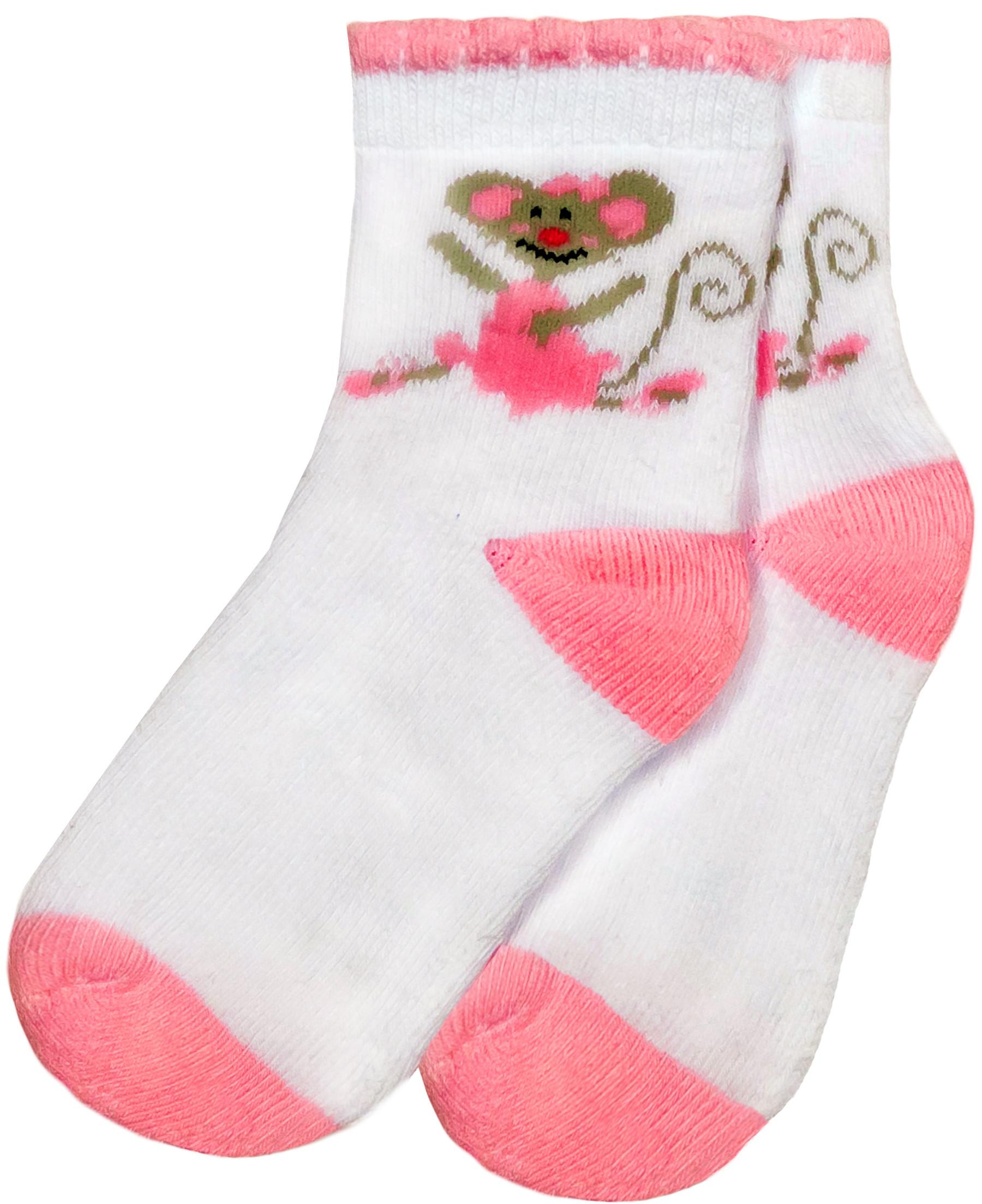 Носки Barkito Носки махровые для девочки Barkito, белые с рисунком igrobeauty тапочки махровые открытый мыс белые на нескользящей подошве спанбонд очка