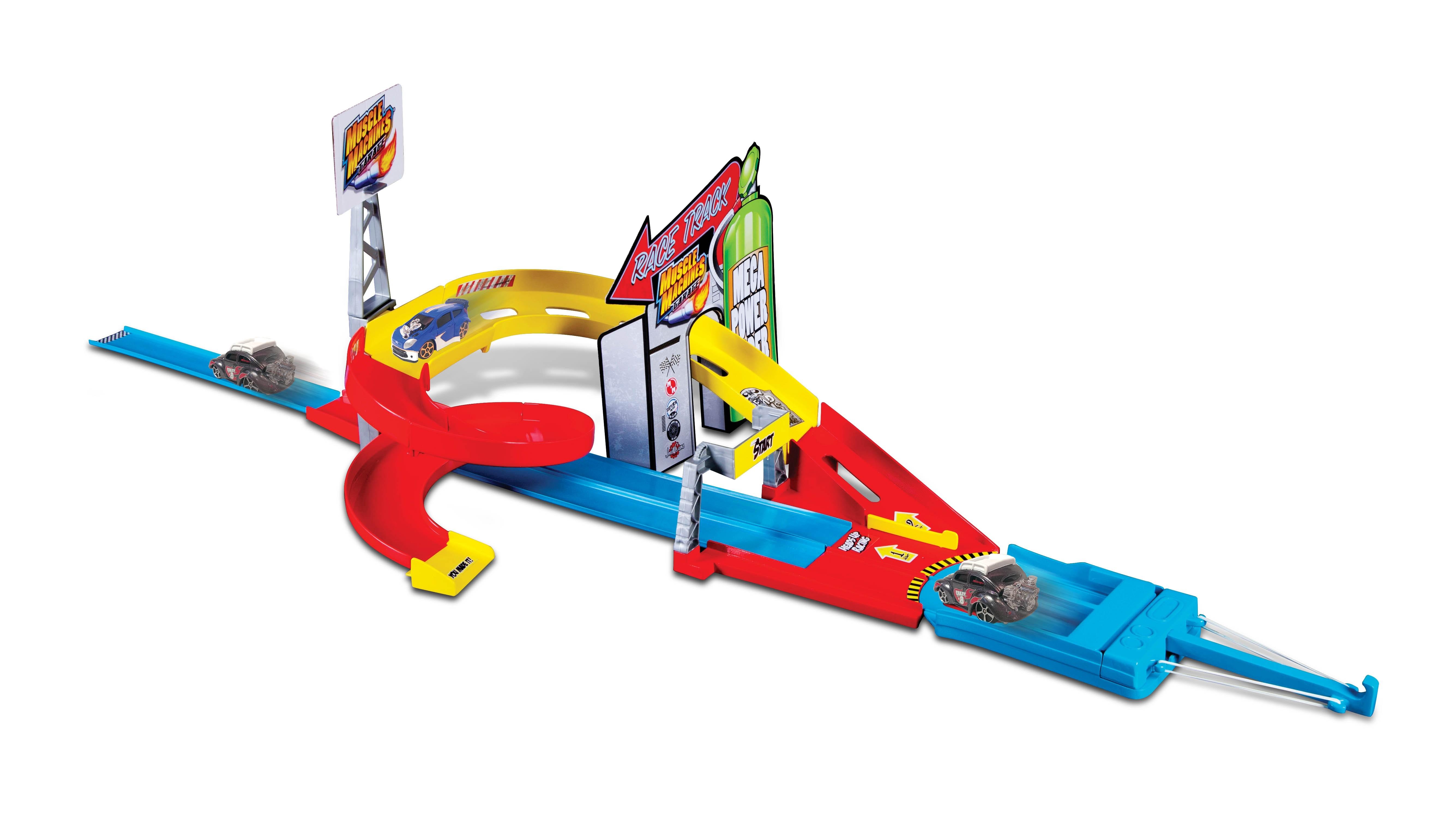 Треки Maisto Гоночный трек с 1 машинкой набор игровой для мальчика poli средний трек с умной машинкой