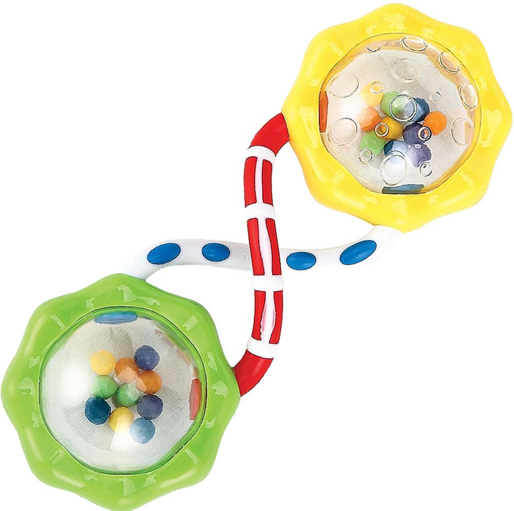 Купить Погремушка, Happy baby Fun Up, 1шт., Happy baby 330301, Китай, зеленый, желтый