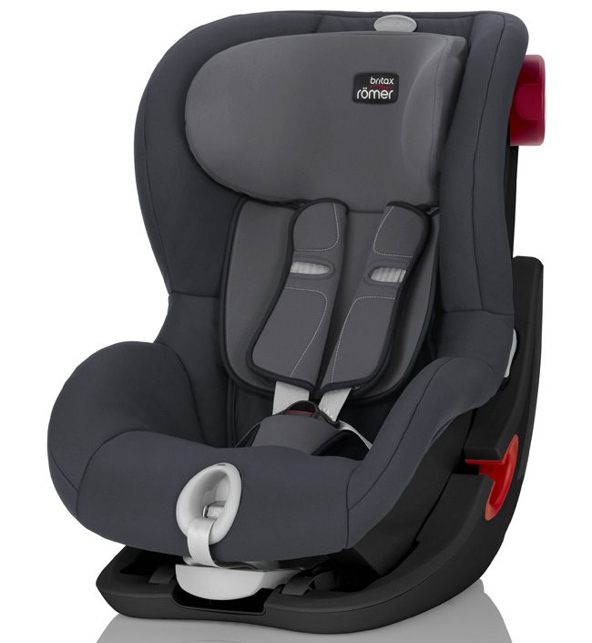 автокресло 9-18 кг Britax Romer King II LS Black Series Storm Grey