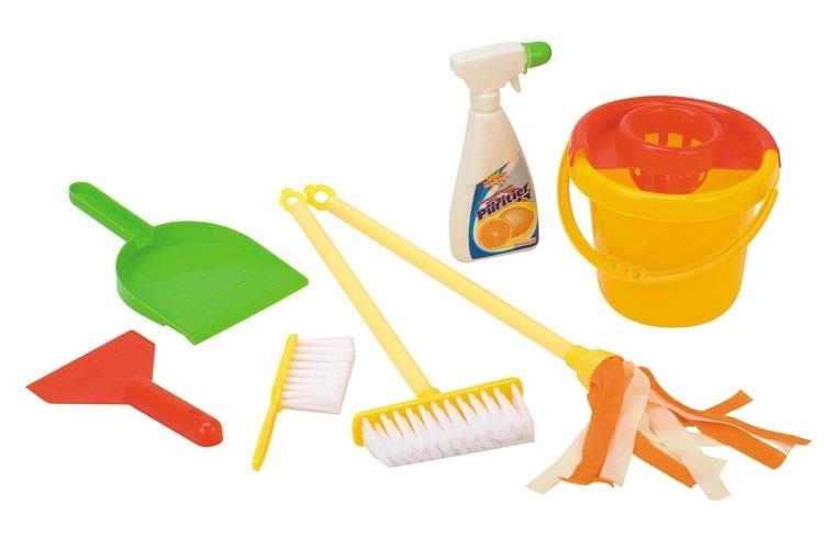 Игровой набор Hualian Toys «Генеральная уборка» с аксессуарами 7 предметов игровой набор jada toys кьюти попс делюкс с собачкой и аксессуарами