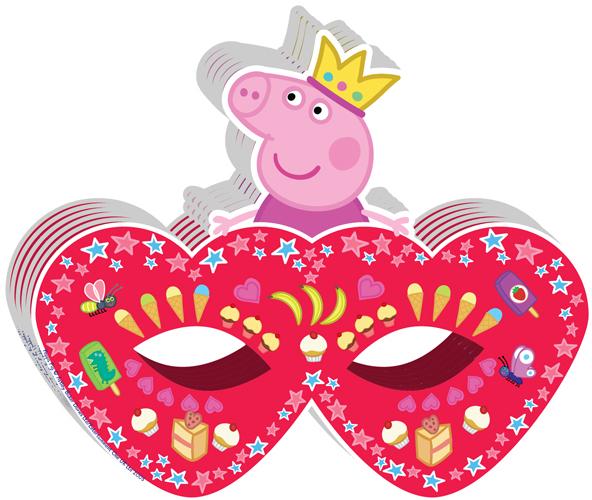 Купить Карнавальная маска, Peppa Pig Пеппа-принцесса 6 шт, Китай, бумага, Женский