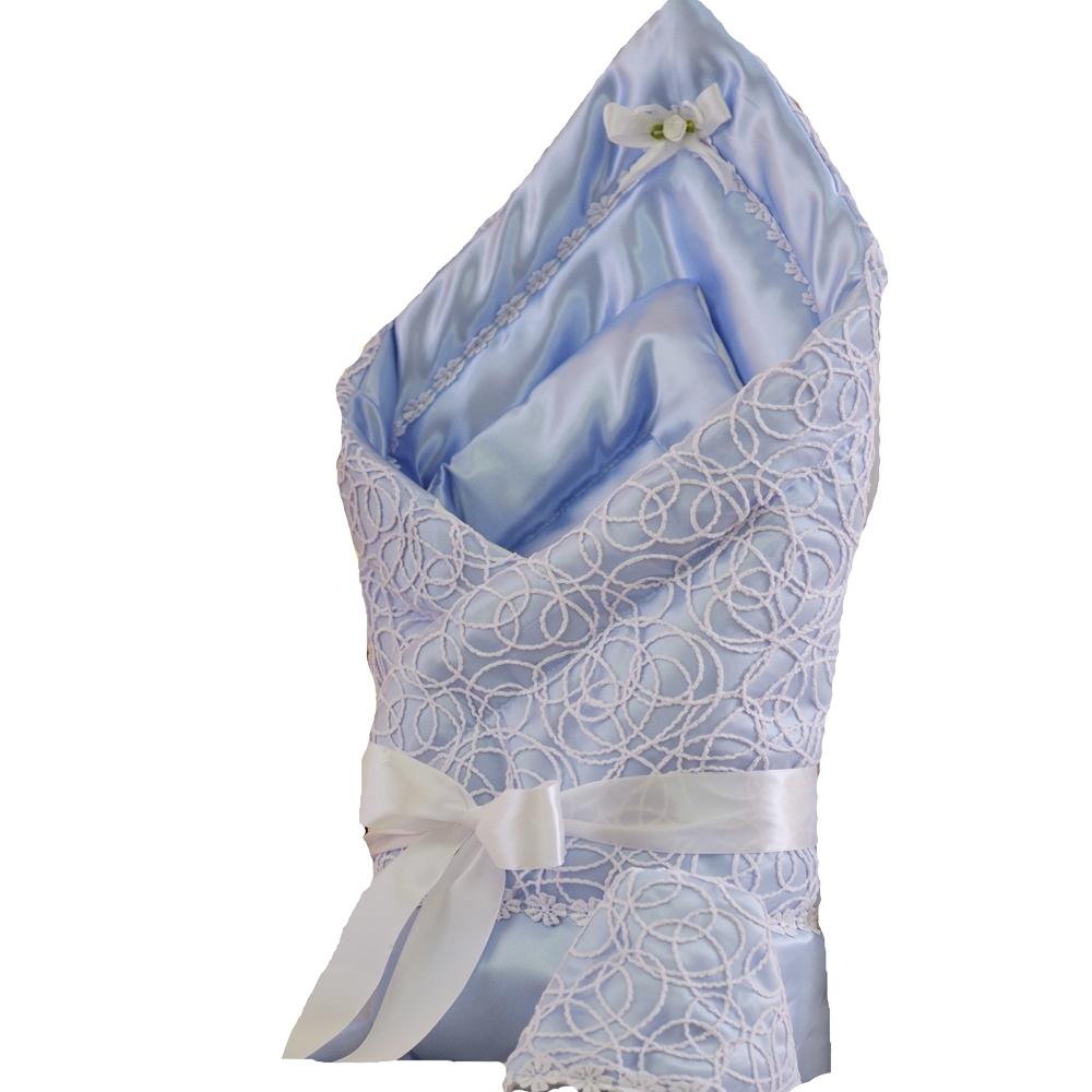 Комплекты на выписку Арго Одеяло на выписку для мальчика Арго «Ажур», голубое цена