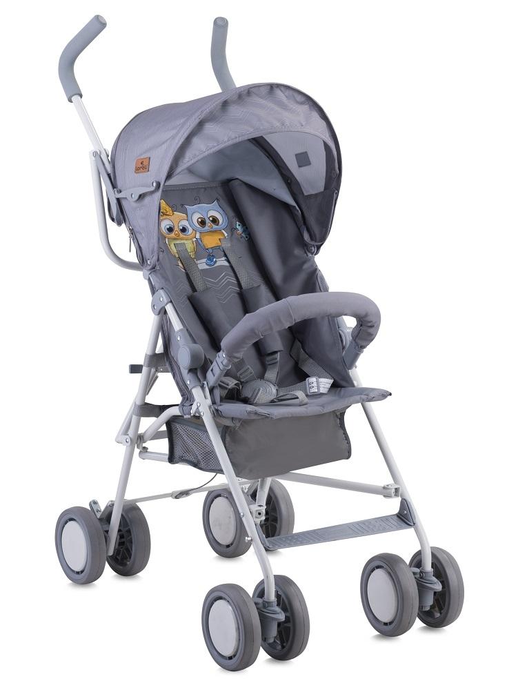Купить Коляска-трость, Trek Grey Baby Owls, 1шт., Lorelli 10020881729, Китай, серый