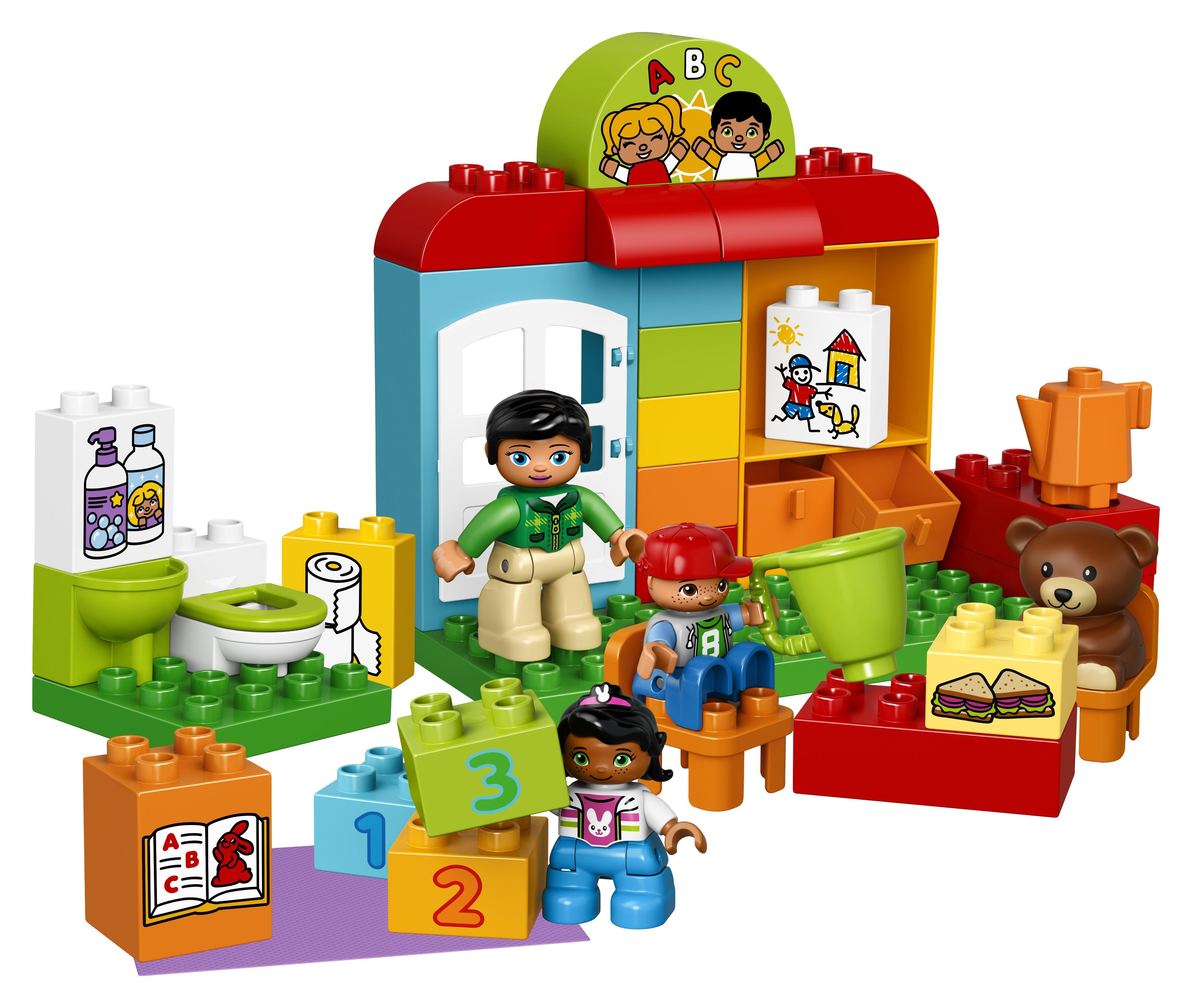 LEGO DUPLO LEGO Duplo Town 10833 Детский сад lego duplo конструктор гоночный автомобиль 10589