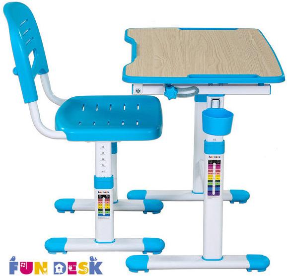 Столы и стулья FunDesk Комплект мебели FunDesk «Piccolino II» стол 66х47 см и стул голубой fundesk подстаканник