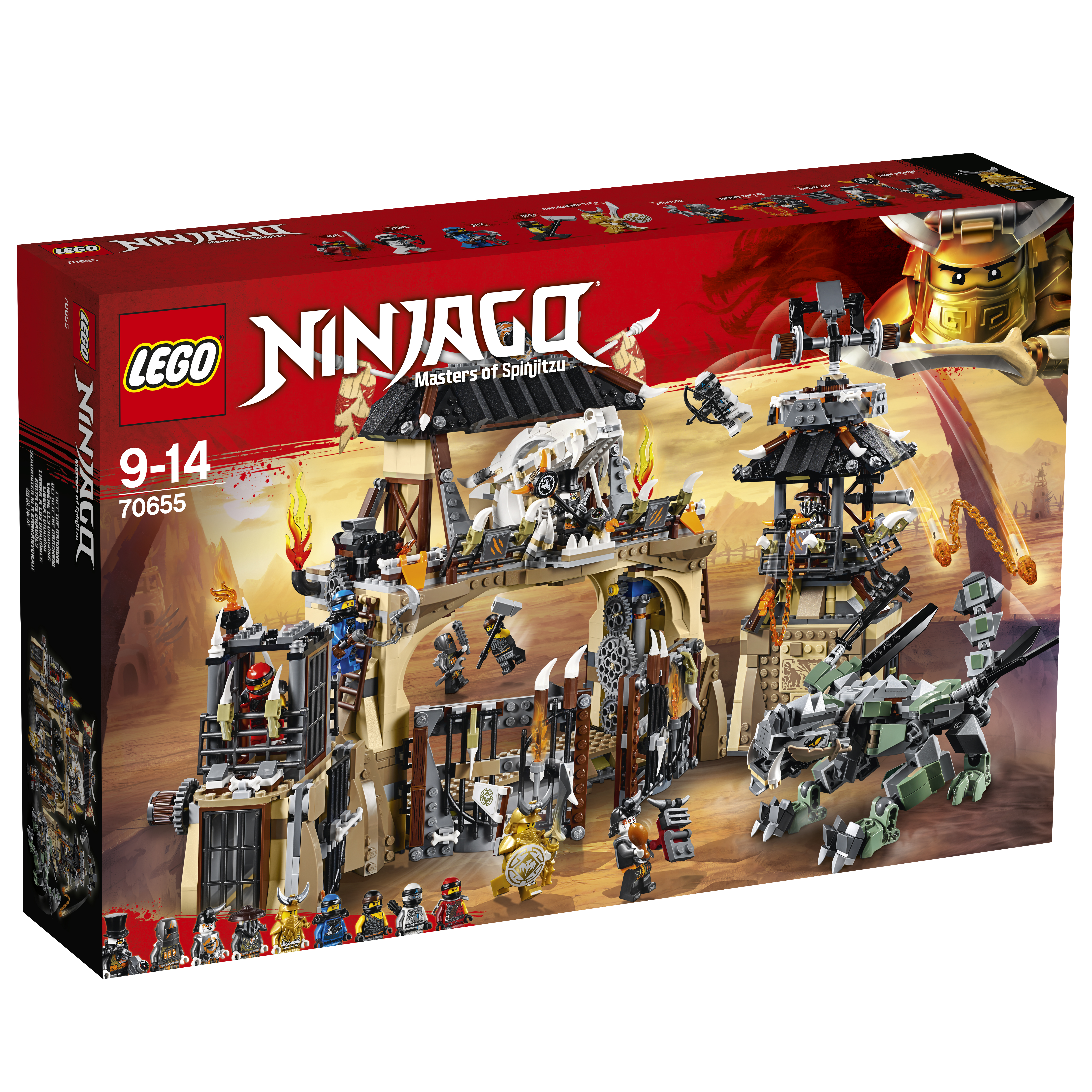 LEGO LEGO Конструктор LEGO Ninjago 70655 Пещера драконов lego 31035