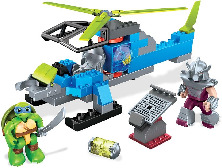 Конструкторы для малышей Mega Bloks Черепаший вертолёт mattel конструктор mega bloks черепашки ниндзя черепаший багги и лео