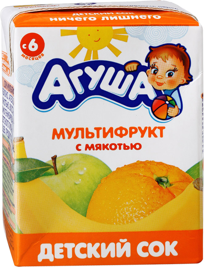 Напитки Агуша Агуша Мультифрукт с мякотью с 6 мес. 200 мл приманка fish ka ароматизатор ваниль 30ml