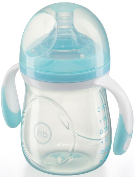 Купить Бутылочка для кормления, Anti-Colic Baby Bottle с силиконовой соской 0+, 180 мл., 1шт., Happy baby 10011, Китай, в ассортименте