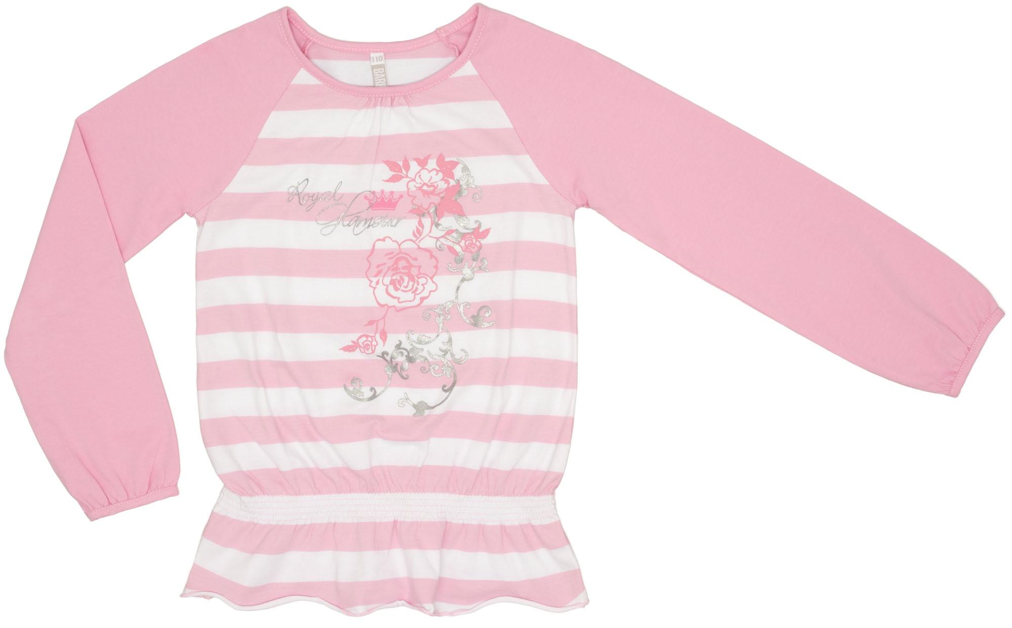 Футболки и топы Barkito Футболка с длинным рукавом для девочки Котёнок Barkito розовый топы и футболки