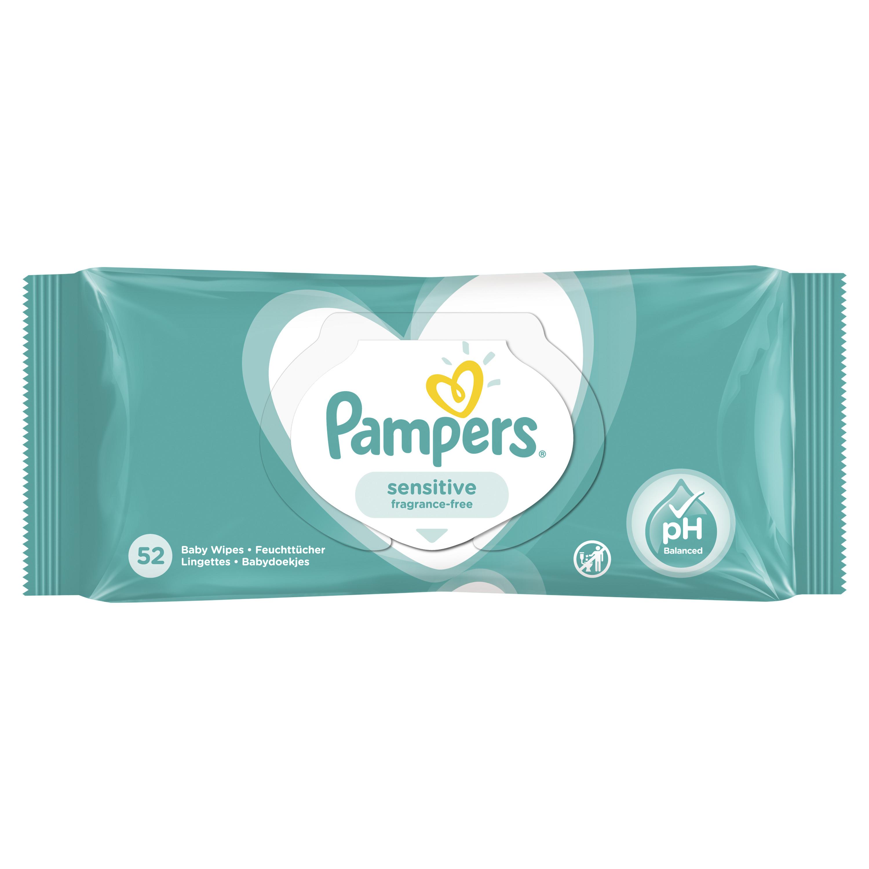 Детские влажные салфетки Pampers Pampers Sensitive 52 шт салфетки детские влажные ponky с крышкой 8690239034604 70 шт
