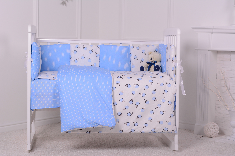 цена Комплект в кроватку Луняшки Сладкая ночка 6 предметов, голубой онлайн в 2017 году
