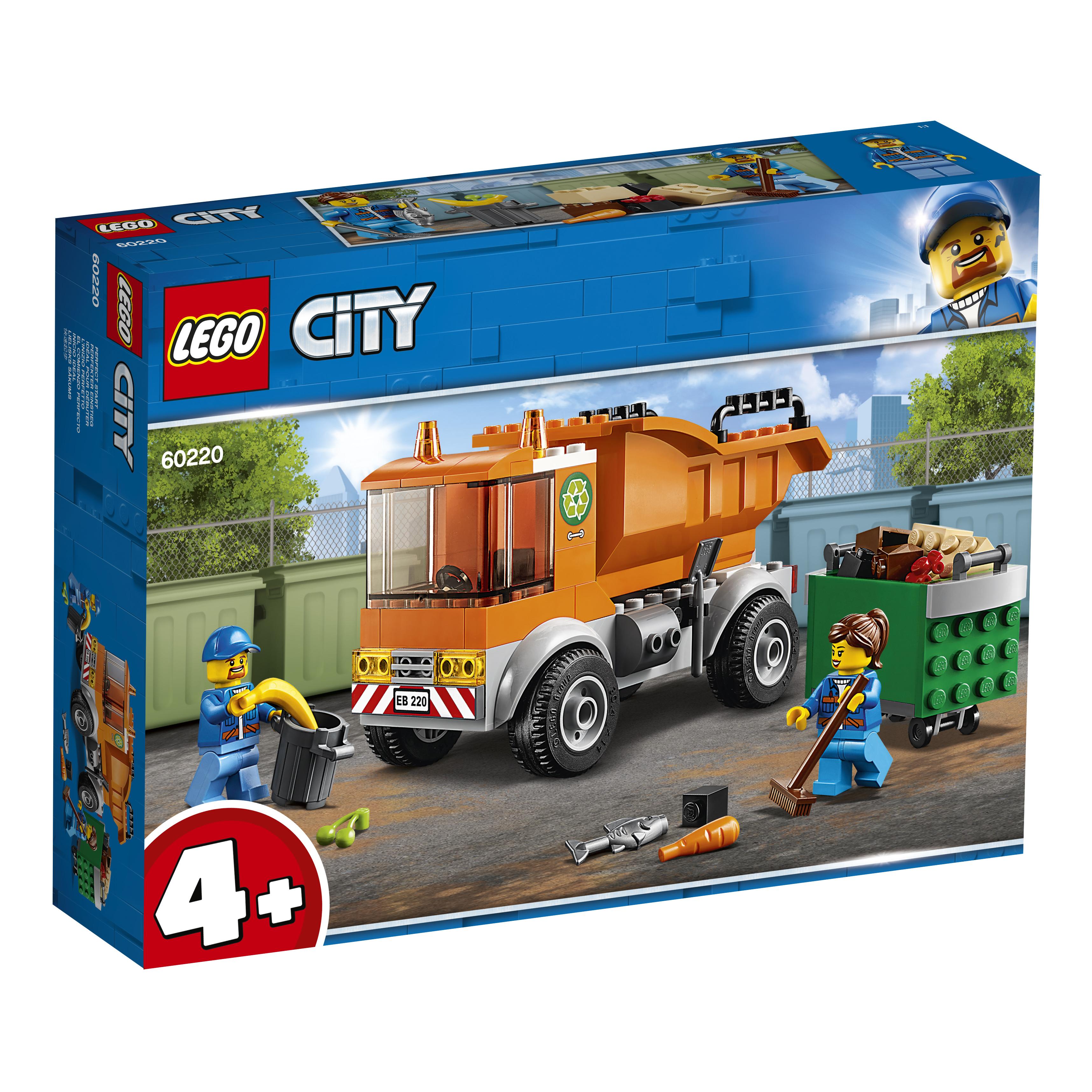 Конструктор LEGO City Great Vehicles 60220 Мусоровоз lego city great vehicles конструктор реактивный самолет 60177