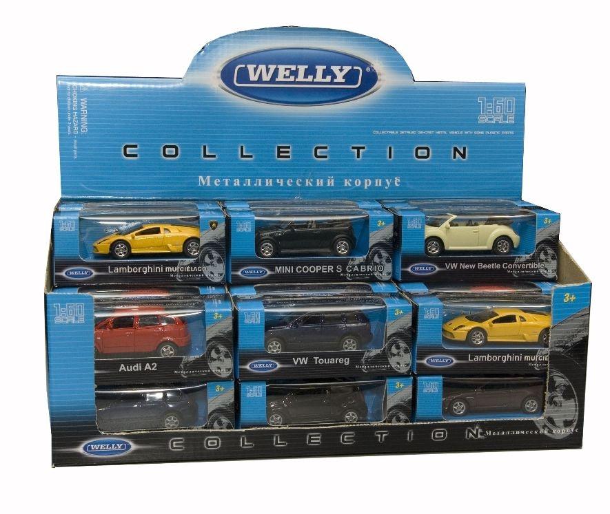Машинки и мотоциклы Welly Модель машины Welly 1:60 в асс. цена