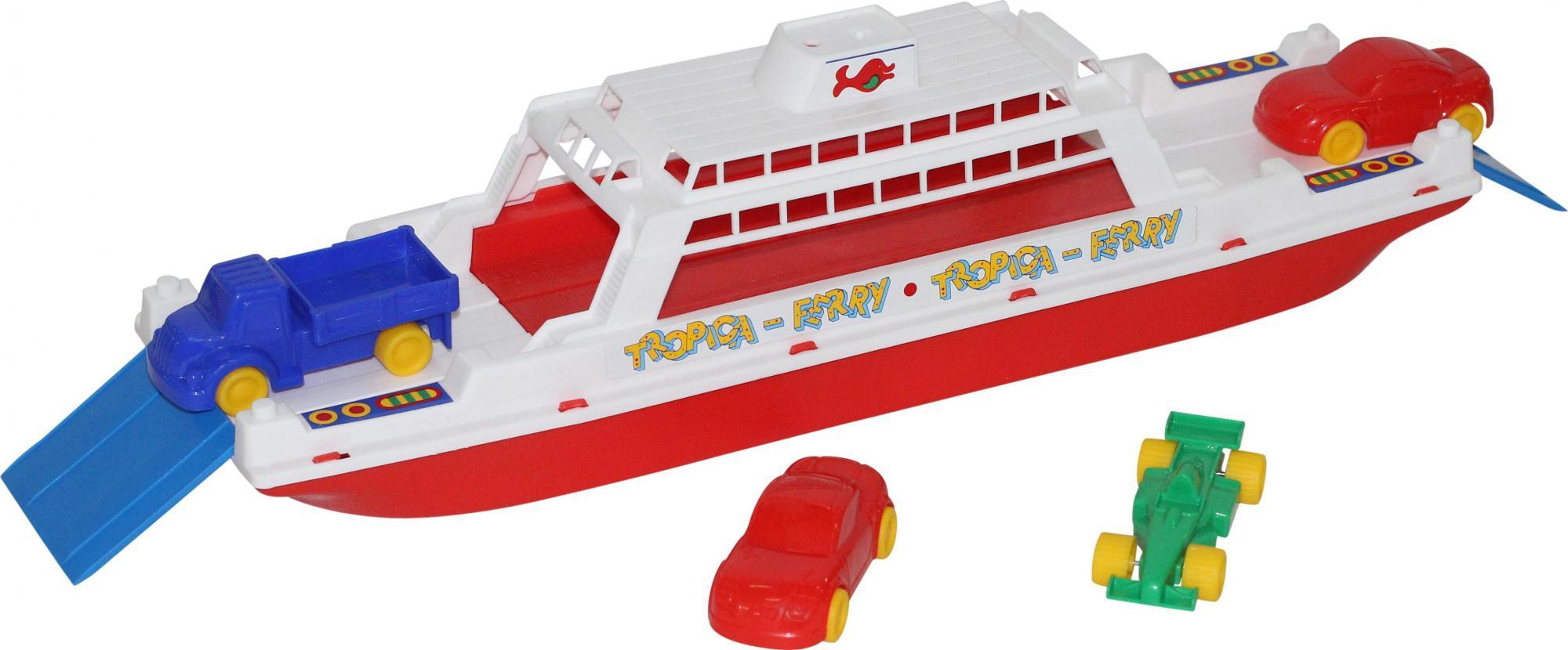 Катера и лодки Полесье Паром Балтик игровой набор полесье паром балтик с 4 машинками