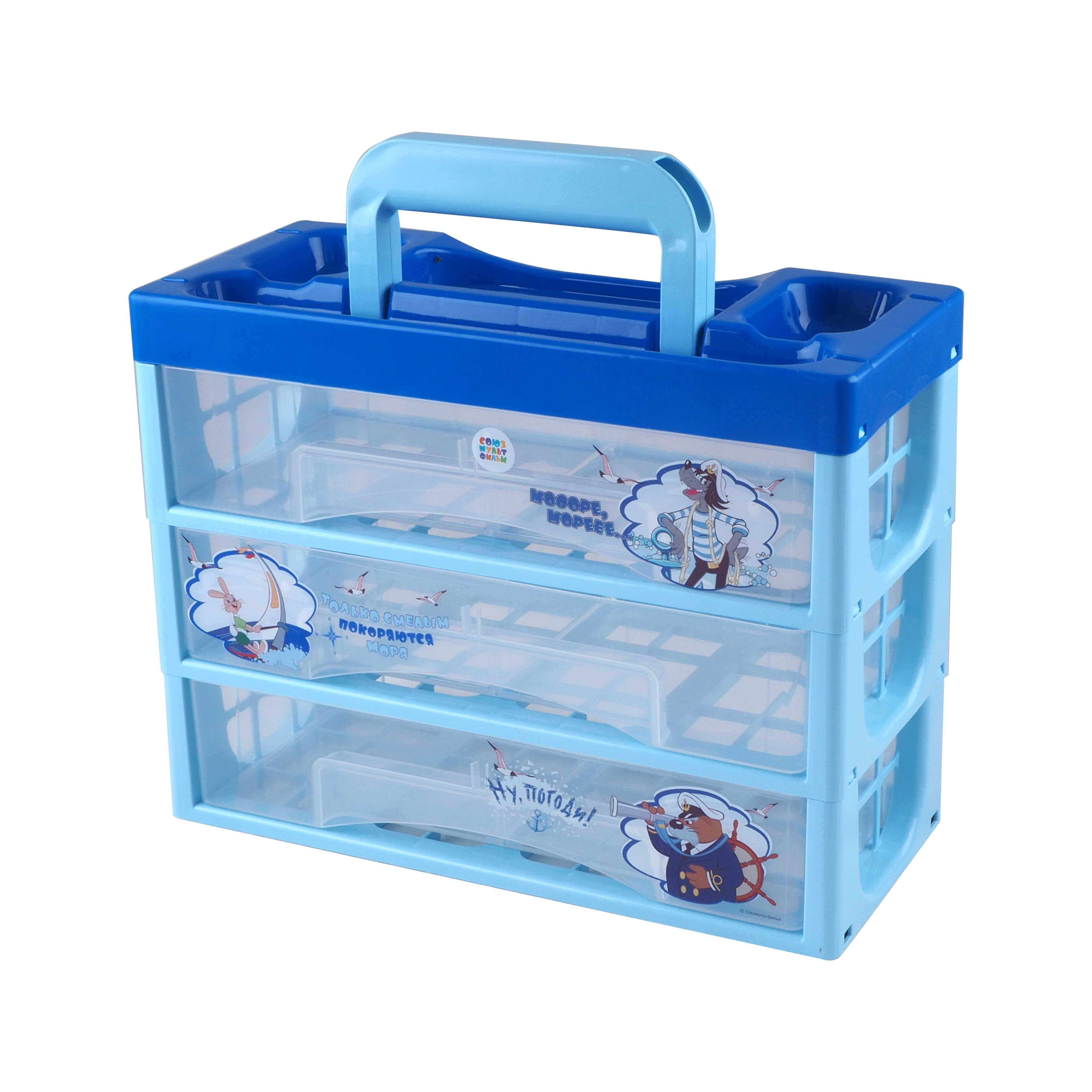 Ящики и корзины для игрушек ПолимерБыт Союзмультфильм полимербыт малыш белый
