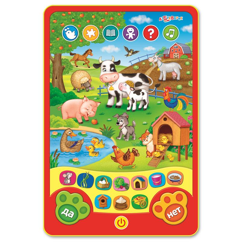 Развивающие игрушки Азбукварик Развивающая игрушка Азбукварик Планшетик «Веселые игры на ферме» планшетик котенок повторяшка