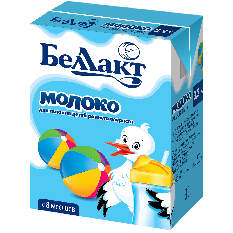 Молочная продукция Беллакт Беллакт 3,2 % с 8 мес. 200 мл тема молоко детское 200 мл