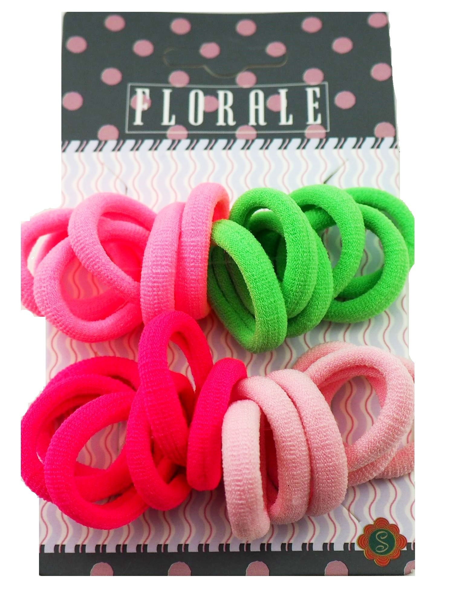 Украшения Florale Резинка для волос Florale 24 шт, в ассортименте маша и медведь резинка для волос пружинки в цветовом дизайне 5 шт