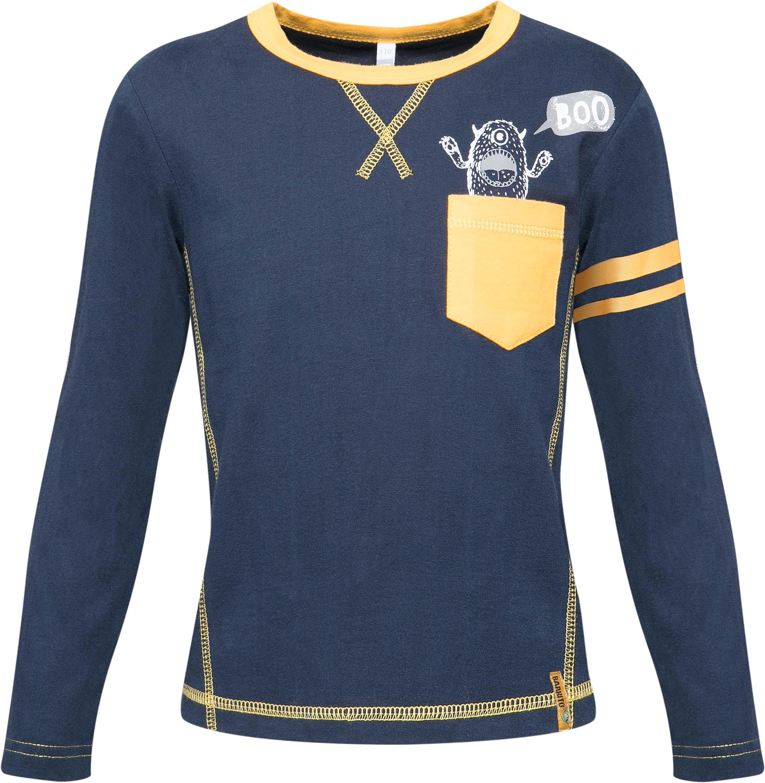 Футболка с длинным рукавом Barkito Монстры в NY футболки barkito футболка с длинным рукавом для мальчика barkito монстр трак темно синяя