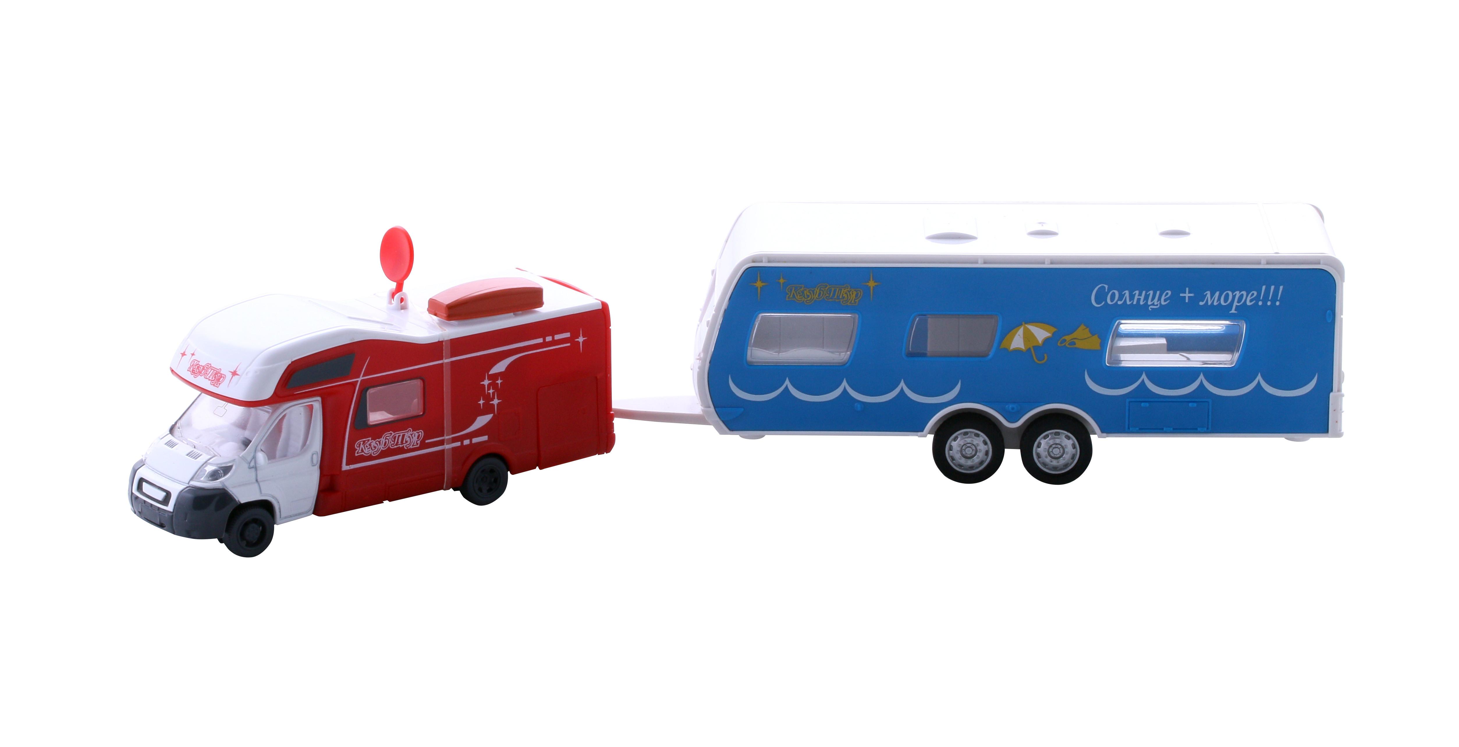 WinCars Автодом с прицепом 1:45 трактор с прицепом св ход 36см dickie