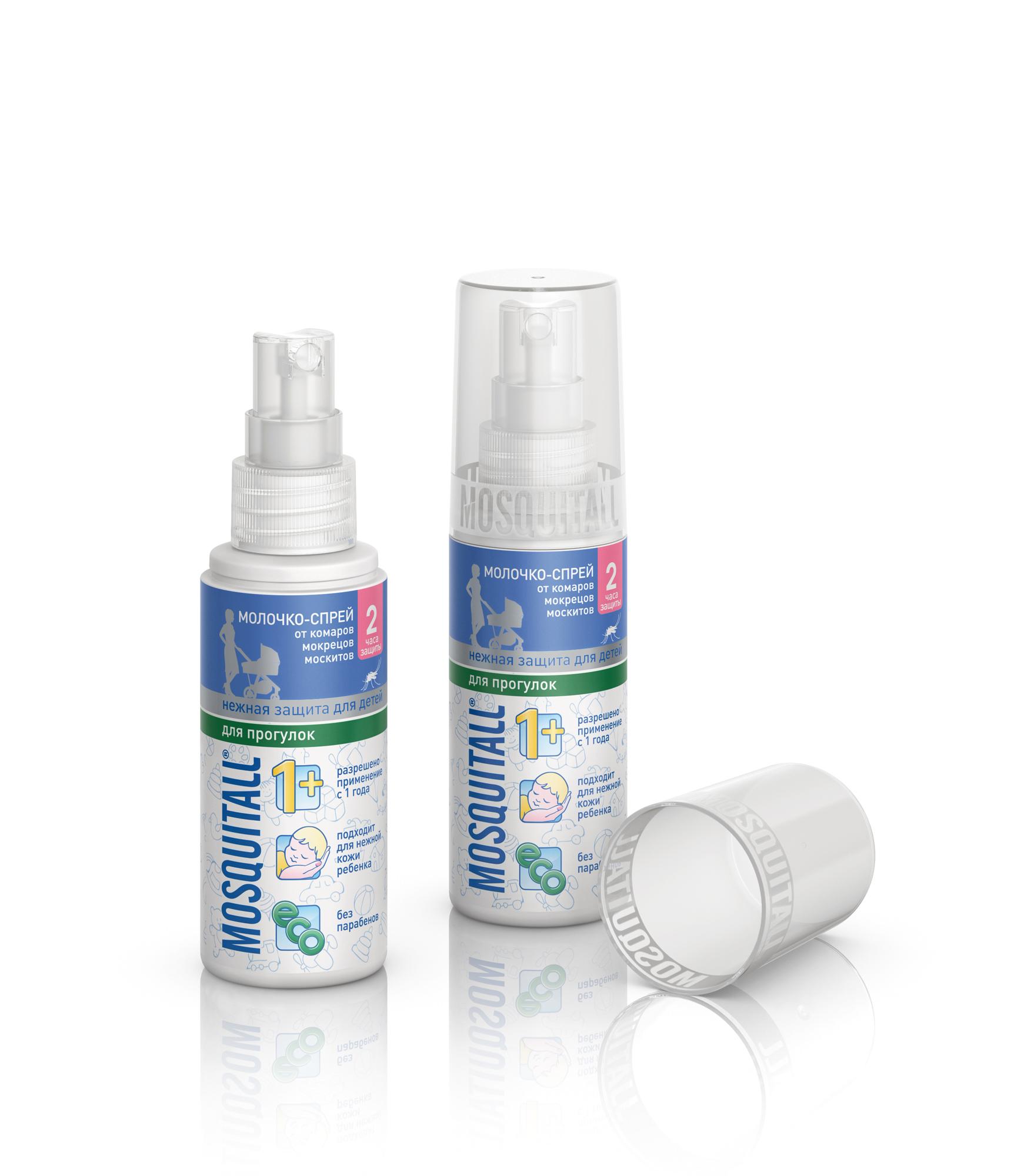 Молочко-спрей от комаров Mosquitall Нежная защита 50 мл от комаров защита