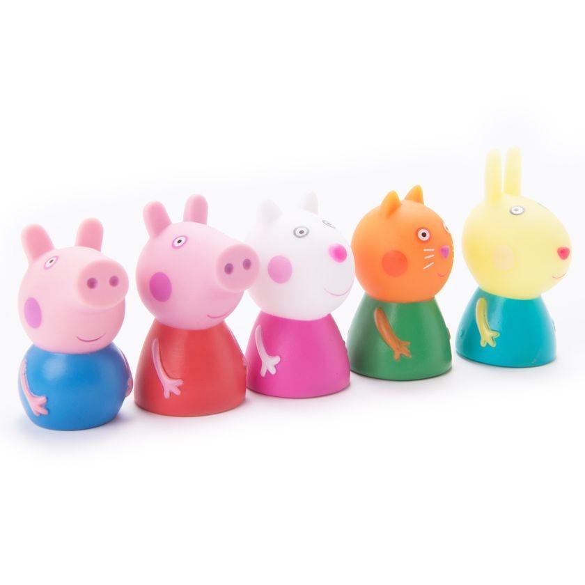 Набор игрушек для ванны Peppa Pig Пальчиковый театр набор игрушек для ванны росигрушка утка и утята