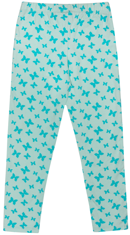 леггинсы для девочки Barkito База голубой с рисунком бабочки леггинсы barkito зайка