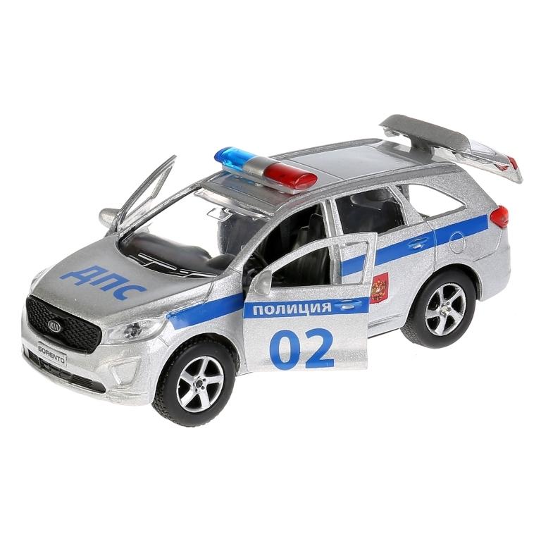 Машинка Технопарк Kia Sorento Полиция 12 см технопарк машина урал будка милиция полиция