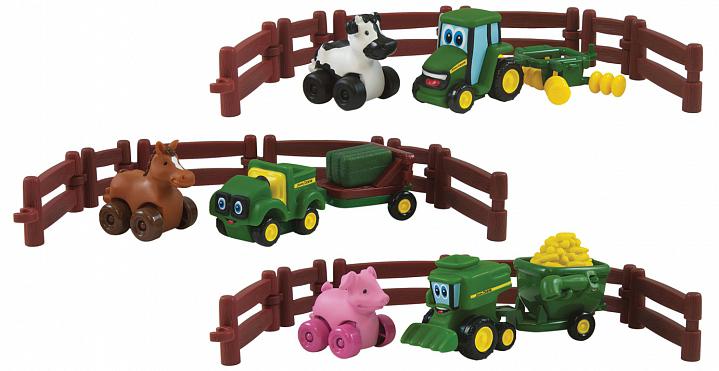 Tomy Конструктор игровой набор tomy приключения трактора джонни и коровы на ферме 9 предметов 37722 1