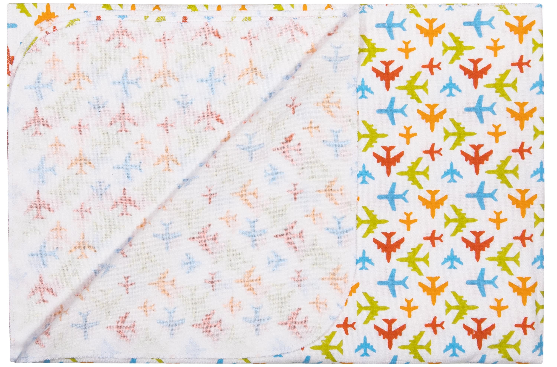 Первые вещи новорожденного Barkito Комплект Barkito, фланель, 2шт, голубая, белая с рисунком, размер: 90x120